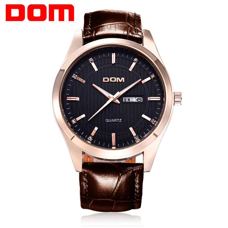 Watches Men Luxury Top Brand DOM New Fashion Casual Business Men's Quartz Watch Male Wristwatc 50m Waterproof(China (Mainland))