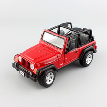 1:27 scale brand maisto mini Children jeep wrangler rubicon metal diecast car models vehicle collection gift toys for kids boys(China)