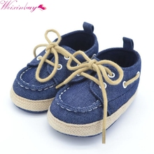 WEIXINBUY Baby Boy Girl Blue Red Sneakers Soft Bottom Crib Shoes Size born to 18 Months(China)