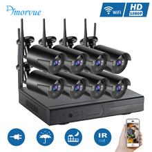 Amorvue 4CH/8CH 1080P Wifi CCTV Camera System 1080P 2MP Wifi IP Camera IR-CUT CCTV Camera Home Security System Surveillance Kits(China)