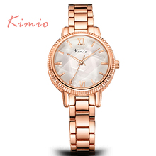 TG125 KIMIO Brand Casual Japan Quartz Movt Jewelry Watch for Women Quartz Wristwatches