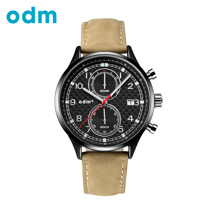 ODM Brand Sport Top Watch Men Leather Strap Mens Stop Watch Luxury Multifunctional 3AT Waterproof Analog Display Male relojes<br>