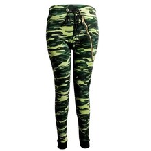 Female fashion brand 9 minutes of pants  ar livre movement  army camouflage pattern jungle A fitness footing wear tight pants