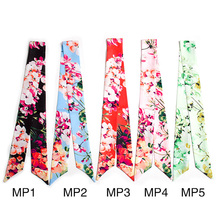 Women Headband Twilly Silk Scarf Ribbon Girls Headbands Ladies Print Little Floral Handle Bag Wrap Hair Accessories(China)