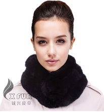 CX-S-15E Many Colours Hand Made European Fashionable Real Fur Rex Rabbit Scarf