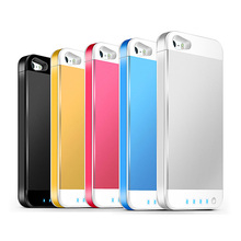 3000mAh Rechargeable Portable Backup External Battery charger case pack cover Power bank with stand holder for iPhone 5 5s