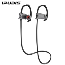 IPUDIS Sport Bluetooth Earphone IPX4 Waterproof Headset Earhook Wireless Earphone IPX4  Headphone with Microphone 95mAh