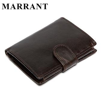 Marrant homens carteiras de couro genuíno depilação óleo carteira titular do cartão bolsa da moeda do bolso dos homens do vintage carteiras de dinheiro bolsas 9049