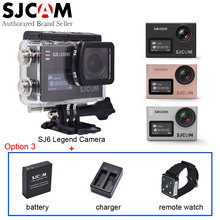 SJCAM SJ6 Legend 4K WiFi Action Video Camera Gyro Waterproof 2.0 Touch LCD Sport Camcorder DV+Extra Battery+Charger+Remote Watch