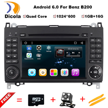 Car DVD GPS For Mercedes Benz B200 B150 B170 A180 A160 Vito W639/245/169/906 Viano Pure Android 6.0 GPS WiFi 3G OBD DVR rear cam