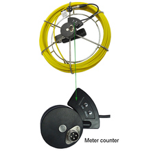 30m fiberglass cable reel with meter counter for pipe inspection camera