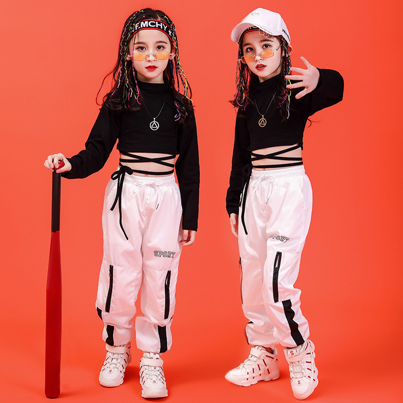 Jazz Dance Costume for Girl New Kids Street Dance Set Hip Hop Clothing Stage Performance Suit Children