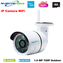 HD IP Camera Outdoor 720P Night Vision ONVIF H.264 Motion Detection Email Alert Remote View Via Smart Phone support SD memory(China)