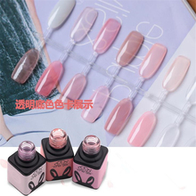 New Fashion Solid Color Bottle High Quality UV LED Gel Nail Polish Nail Art Nude White Pink 5ML(China)