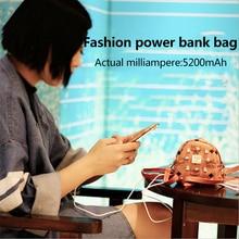Fashion mini bag power bank power bank battery 8800mAh USB cable charger for mobile phone women & girl gift
