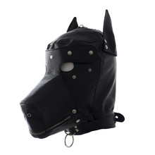 Buy Adult games cosplay horse headgear leather bondage bdsm fetish slave blindfold mask cap head restraints hood sex toys products