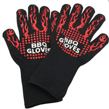 Multifunction BBQ Grill Oven Gloves Heat Resistant Premium Insulated and Silicone Lined Aramid Fiber Gloves for Cooking Baking