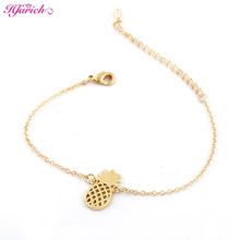 New Fashion Link Chain Pineapple Bracelet women Trendy Plant Pineapple Charm women bracelets christmas gift SL039