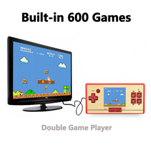SOROPIN Pocket Handheld Game Console For Kid 8 Bit Classic Portable 2.6'' Video Game Card Player With 600 Games Support TV-out