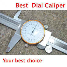 2016 Best 0-150mm/0.02 Dial Caliper Shock-proof Metal Vernier Caliper Metric Micrometer Gauge Measuring Tool(China)