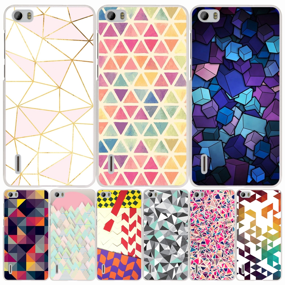 Fashionable Geometric Graphic cell phone Cover Case for huawei honor 3C 5A 4A 4X 4C 5X 6 7 8 Y6 Y5 2 II Y560(China (Mainland))