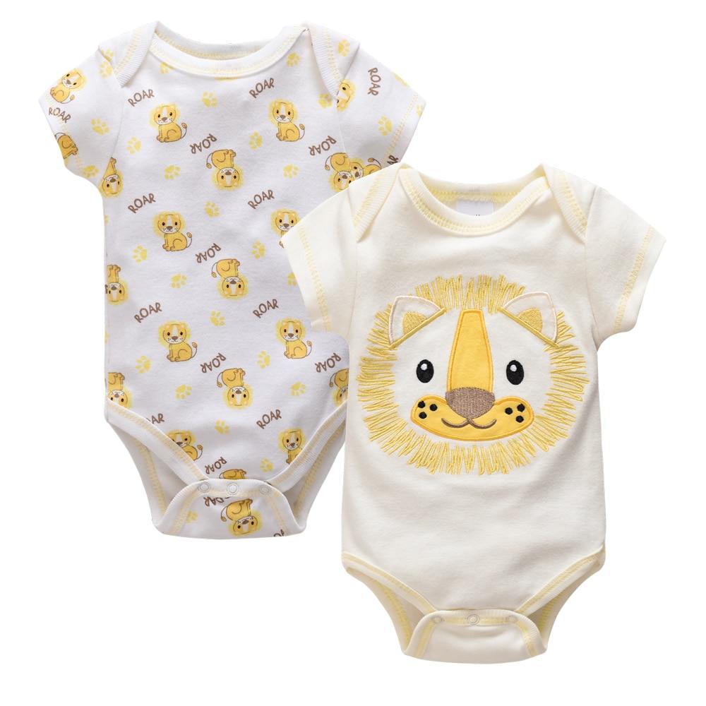 Baby Boys Girls Cartoon Lion Animal Print Sleeveless Knitted Rompers Bodysuit