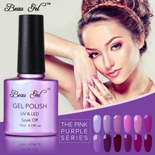 Beau Gel UV Nail Polish Purple Series UV Gel Nail Polish Nails Art Salon LED Soak Off Long Lasting Gel Nail Art UV Polish