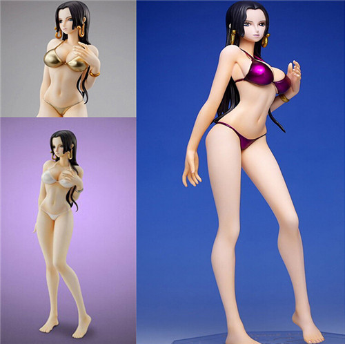 23cm One Piece POP Boa Hankokku Boa Hancock White/ Purple/ Gold Bikini Toys PVC Anime Brinquedos Action Figure With Box Q097<br><br>Aliexpress