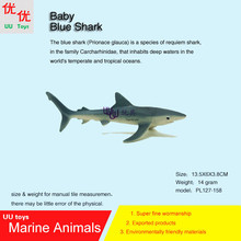 Hot toys Baby Blue Shark Simulation model Marine Animals Sea Animal kids gift educational props (Prionace glauca )