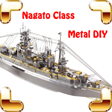 New Coming Gift Nagato Class Battleship DIY Metal Assemble Toys Adult Puzzle Collection Office Decoration Alloy Boat Models(China)