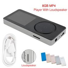 2017 Portable USB Mini 8GB MP4 Player LCD Screen Support 32GB Micro SD TF Card With Loudspeaker +Movie +FM Radio+ Voice Recorder(China)