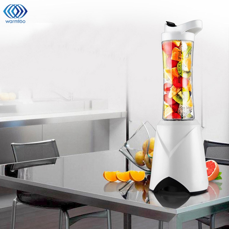 Mini Portable Electric Juicer Small-Scale Domestic Fruit Juice Processor Student Extractor Blender Smoothie Maker 2 Cups<br>