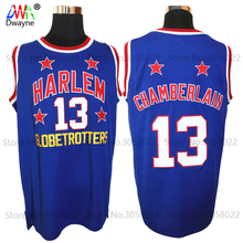 Mens #13 Wilt Chamberlain Harlem Globetrotters Cheap Throwback Basketball Jersey Retro Jerseys Vintage Basket Embroidery Shirt(China)