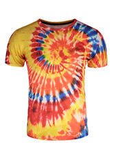 Fashion Sea Wave Vortex Colourful Fireworks 3D Print T-shirt Unisex Short Sleeve Kid Casual High Quality Men Tie Dye Clothing