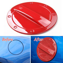 Car Exterior Fuel Gas Door Oil Tank Box Cap Cover Trim ABS Red Fit For Chevrolet Camaro 2017+ Auto Decor Car Styling Accessories