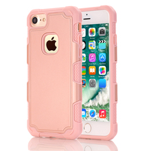 For iPhone 5/5S/SE/6/6 Plus/7/7Plus Phone Cases Hybrid Dual Layer Armor Defender Full Body Protective Shockproof Back Cover Pink