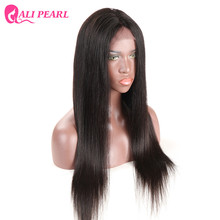 Alipearl Hair Straight Full Lace Human Hair Wigs 180% Density Brazilian 10-24inch Natural Black Color Remy Hair Free Shipping