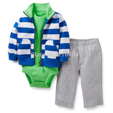LSL3-004,New Collection, Baby Boys and Girls 3-Piece Clothing Sets,Cute Suit for Spring And Autumn,Original,Free Shipping(China)