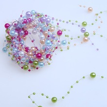 1.2m 6PCS 6 Colors Pearls Beads Wedding Party Decoration Bead Chain DIY Crafts Garland Birthday Decoration Accessories