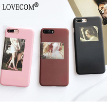 Fashion Retro Oil Painting Abstract character Matte Hard PC Phone Case For iPhone 6 6S Plus Back Cover Bag(China)
