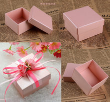 100Pcs Square Candy Box for Wedding/ Party Decoration/Event Party Supplies/Favours Candy Box/ Wedding Invitations/ Gift boxes