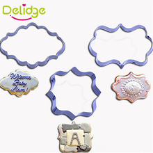 Delidge 1 pcs European Style Picture Frame Cookie Cutter Stainless Steel Photo Frame Shape Cookie Molds 3 Shapes Mousse Ring