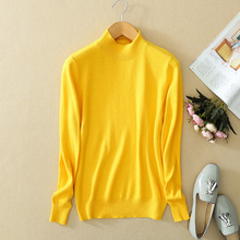 Turtlenec Cashmere Sweater Women Knitted Bottoming Shirt Autumn and Winter Warm Long Sleeves Pullover(China)