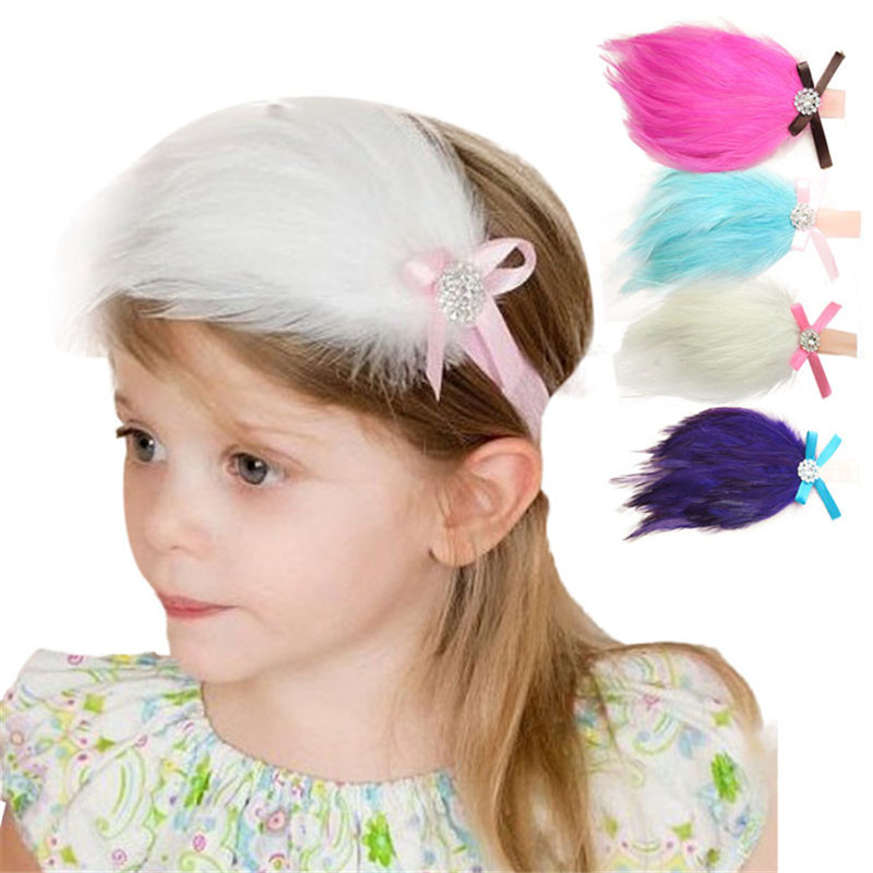 Super Cute And Lovely Baby S Headband Feather Flower Kids Infant Headwear Maquiagem