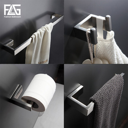 FLG 304 аксессуары для ванной комнаты из нержавеющей стали, один полотенцесушитель, крючок для халата, бумажный держатель для ванной аппаратны...