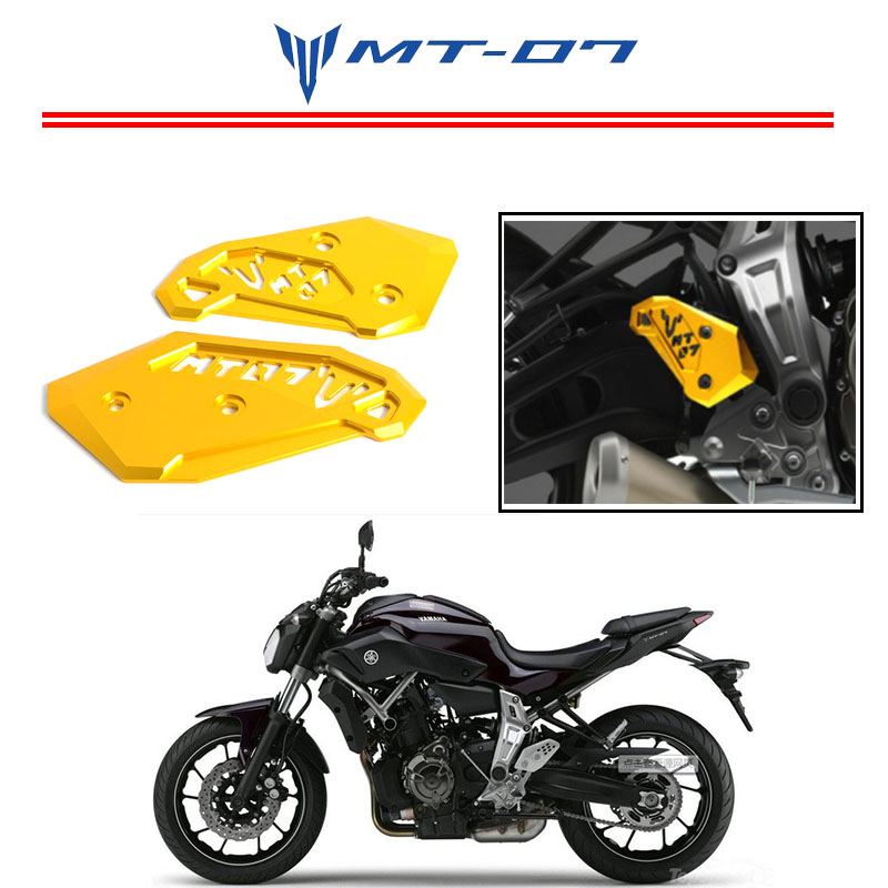 Motorcycle CNC Rearset Foot Peg Mount Heel Plates Guard Protector For Yamaha MT-07 2014 2015 MT07 14 15 NEW<br>