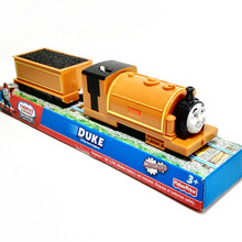 Electric Thomas and friend DUKE with one carriage Trackmaster engine Motorized train Chinldren kids toys with package