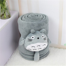 150*100cm Classical cartoon totoro blanket coral fleece blanket with plush totoro toy sofa blanket cover 100X150cm