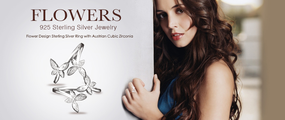 Butterfly Adjustable Rings - Austrian Cubic Zirconia