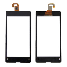 Black Touch Screen Digitizer Panel Sensor Glass Lens Repair Part Replacement for Sony Xperia Z1 Compact D5503 Z1 mini